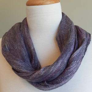Merino Silk Scarf Juniper Purple