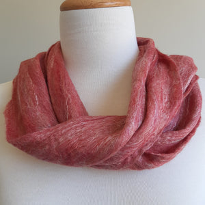 Merino Silk Scarf Pomegranate Light Red