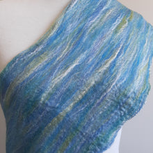 Merino Silk Scarf Salvia Light Blue Green