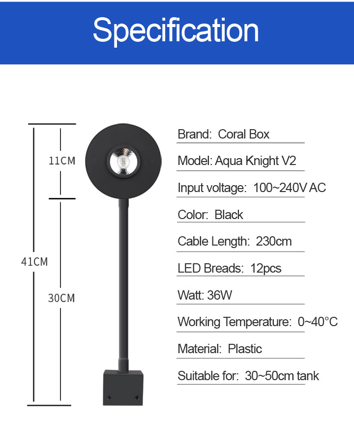 Aqua Knight Led Aquarium Light v2