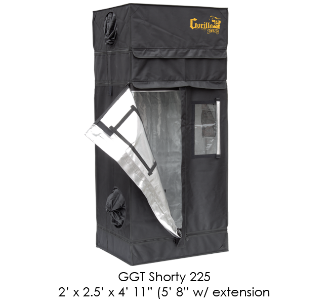 Gorilla Grow Tent 2' x 2.5' Shorty Series GGT225SH