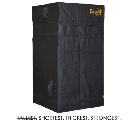 Gorilla Grow Tent 4' x 4' Shorty Series GGTSH44