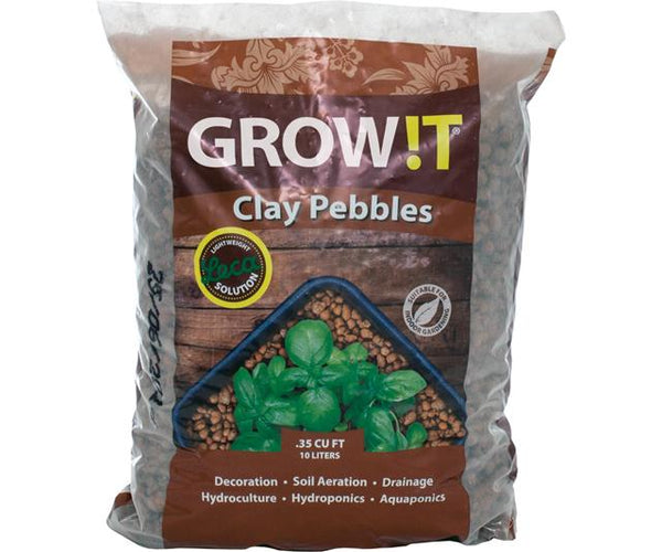 GROW!T Clay Pebbles, 10 L