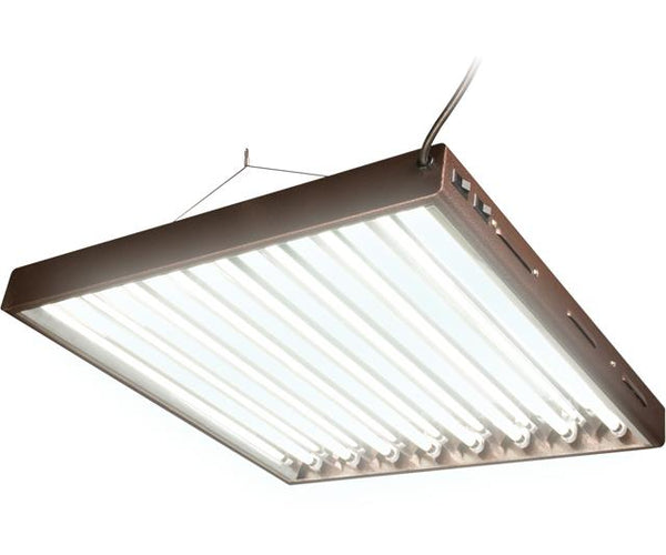 Agrobrite T5 Designer 2Ft 8 Tube Fixture w/ Bulbs