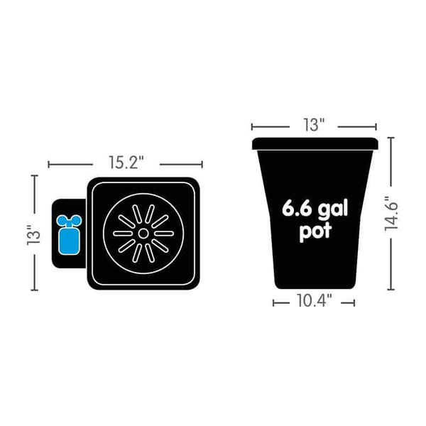 AutoPot 6.6 Gallon Pot Black | WeGrowBuds