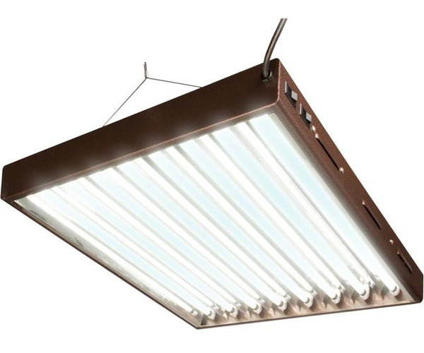 Agrobrite T5 Designer 4Ft 8 Tube Fixture w/Bulbs