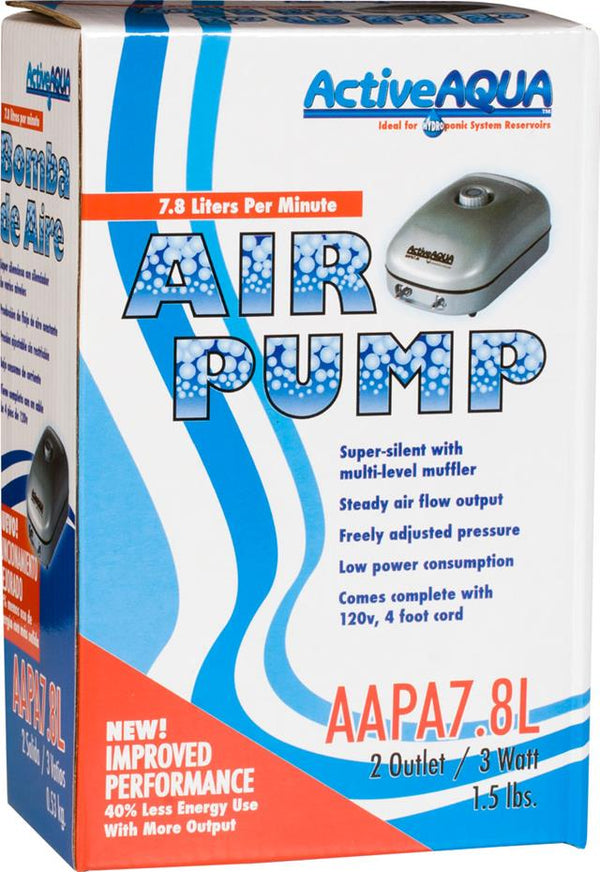Active Aqua Air Pump 2 Outlets 3W 7.8L/min (30/cs)