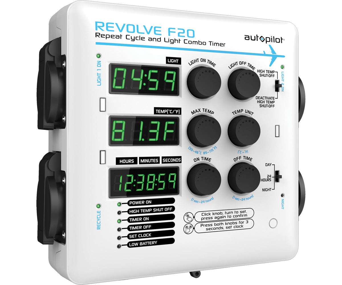 Autopilot REVOLVE F20 Repeat Cycle and Light Combo Timer - 1