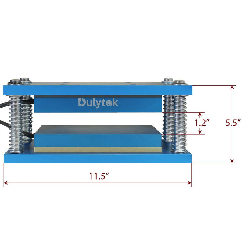 "Dulytek® Retrofit Rosin Heat Caged Plate Kit, 3"" X 8"" Food-Grade Anodized Aluminum Plates, For 15 - 30 Ton Shop Presses"