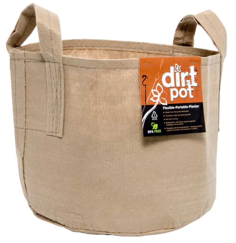 Dirt Pot Tan 200 Gal w/Handle (5/pk) (10/cs)
