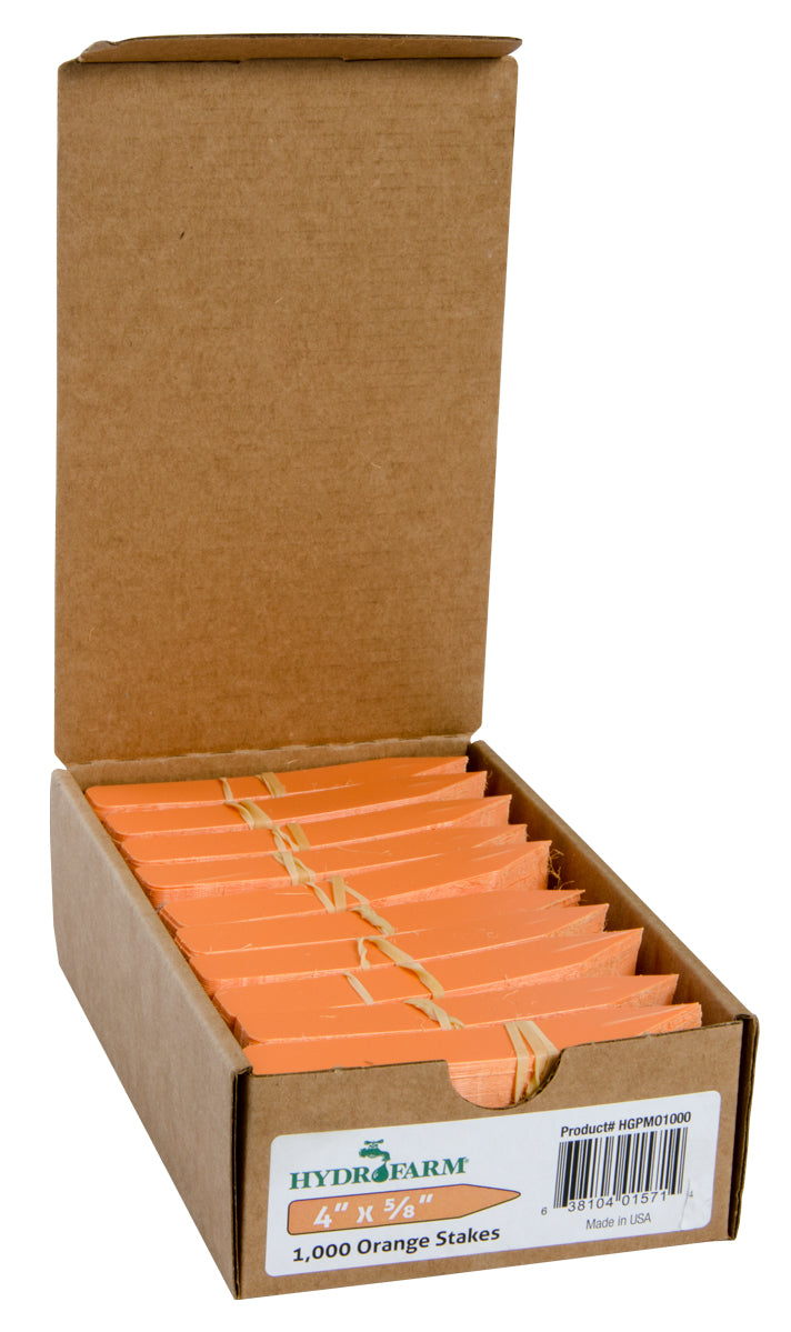 "Plant Stake Labels Orange 4""x5/8"" 1000/CS"