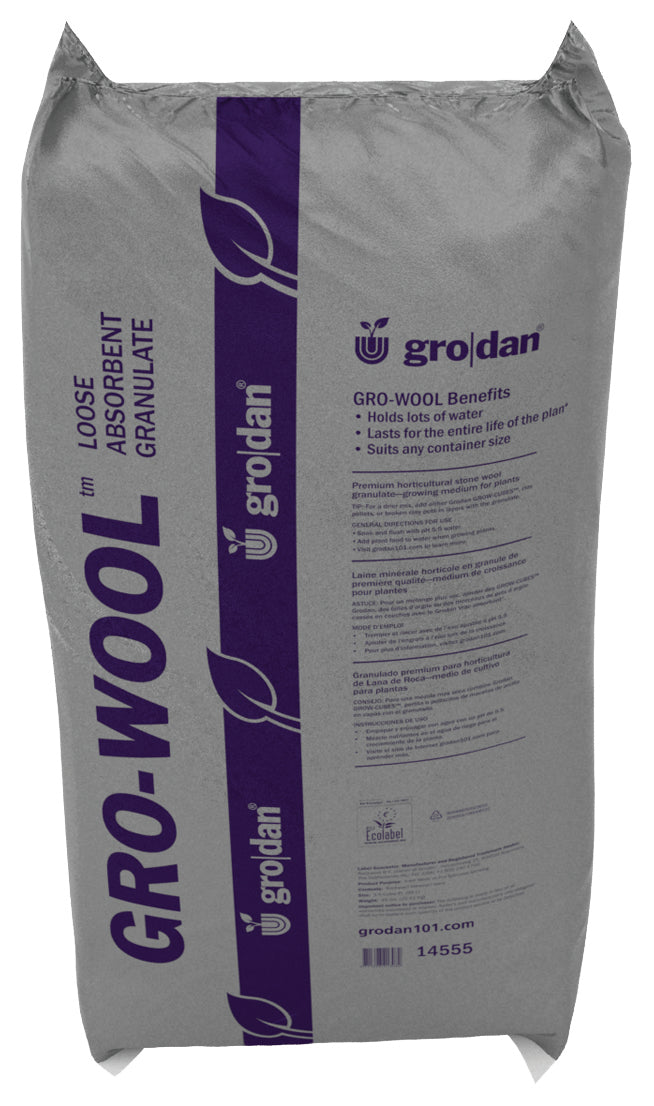 Grodan Gro-Wool Medium Water Absorbent Granulate, 3.5 cu ft (Available in pallet quantity)