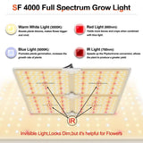 Spider Farmer SF4000 LED Grow Light, New 2020 version with dimmer knob included