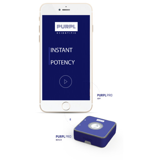 PURPL Pro Scientific Highly Accurate Potency Measurement System, Turn Your Mobile Phone into a State-of-The-Art Potency Measurement System