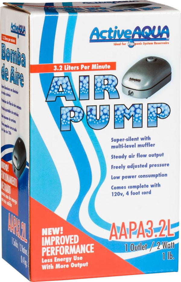 Active Aqua Air Pump 1 Outlet 2W 3.2L/min (40/cs)