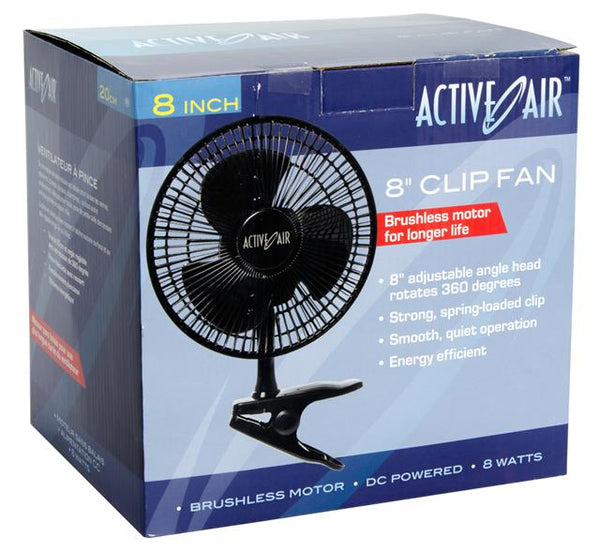 Active Air 8in Clip Fan, 7.5W (12/cs)