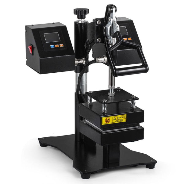 "600 WATT DUAL DIGITAL CONTROL ROSIN HEAT PRESS, 5"" X 5"" PLATE"