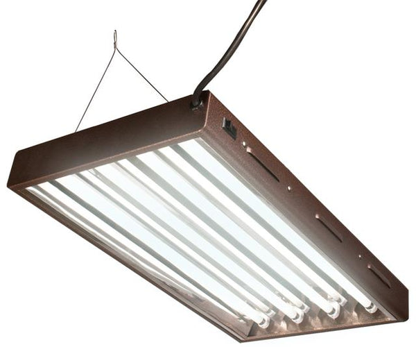 Agrobrite T5 Designer 2Ft 4 Tube Fixture w/ Bulbs