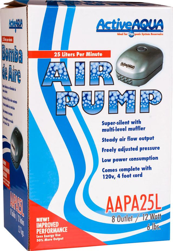 Active Aqua Air Pump 8 Outlets 12W 25L/min (8/cs)