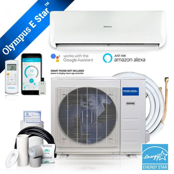 MrCool Olympus ENERGY STAR 18,000 BTU 1.5 Ton Ductless Mini Split Air Conditioner and Heat Pump - 230V/60Hz
