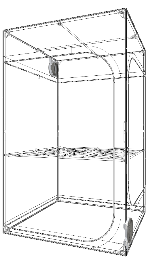 Secret Jardin Dark Street 120 v4.0 (4' x 4' x 6 1/2') Grow Tent