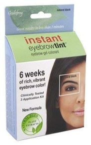 Godefroy Instant Eyebrow Tint Botanicals3application kitNatural Black