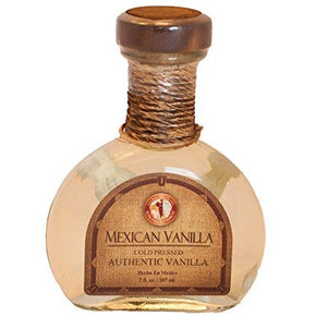 Mexican Vanilla CLEAR Cold Pressed - Hand Blown Glass 7oz