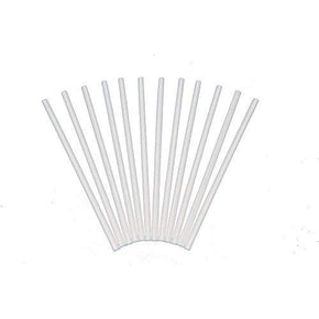 Plastic White Dowel Rod small 12in12pck
