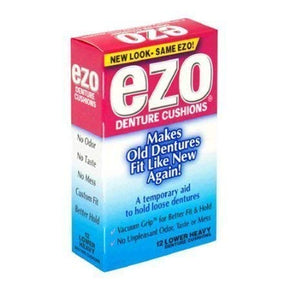 EZO  Denture Grip Lower Heavy 15ct 12-pack