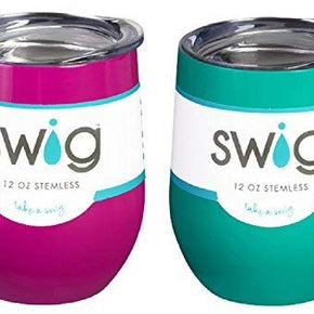 Swig12oz Stemless Wine Cup TurquoiseBerry1ea