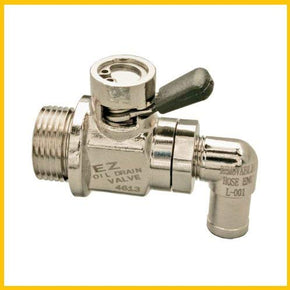 EZ OIL DRAIN VALVE FOR DRAIN PLUG SIZE M14 - 15 and Removable Hose End-Small Body L-Shaped