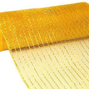10inX10yd Metallic Mesh Bright Gold WGold Foil