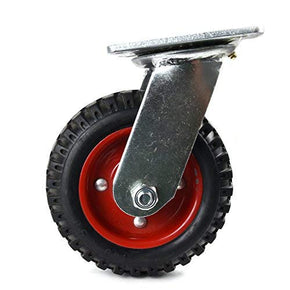6 inch 200mm Heavy Duty Rubber Pneumatic Swivel Caster