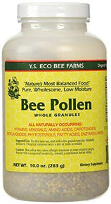 YS Organic Bee Farms Bee Pollen Whole Granules Low Moisture 10 oz