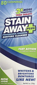 Stain Away Plus Denture Cleanser Professional Strength 81oz