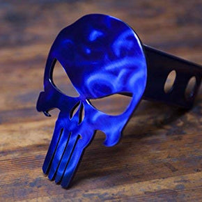 Punisher Trailer Hitch Cover - Intense Blue