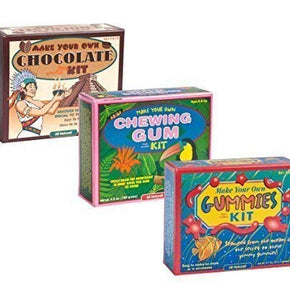 The Make Your Own Chewing Gum KitThe Make Your Own Chocolate KitThe Make Your Own Gummies Kit