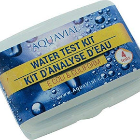AquaVial Ecoli - E coli and Coliform drinking water test kit - 4 pack