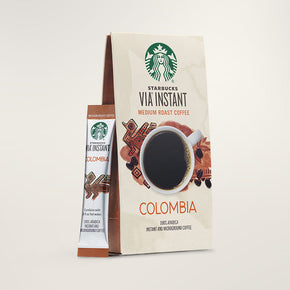 Starbucks VIA Instant Coffee, Colombia, Medium Roast, 0.1 oz, 50 Sticks