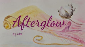 water colour painting, yellow and pink, logo in wording. on the right side is a cotton flower