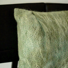 Load image into Gallery viewer, These varied cushions hand you a large choice of different colors and sizes. The mix of the two colors gives the cushion a mystic look, and the Mohair wool lends it a soft touch of gloss. Merino/Mohair Wrapped scatter cushio