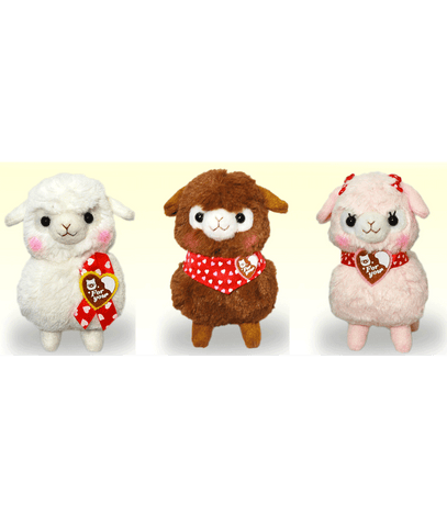 Amuse Alpacasso Sweet Day Series Ball Keychain Pink, Brown, White 12cm
