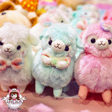 Amuse Kids Alpacasso Fuwa Fuwa Series Medium Plush Pink, Mint, White, Beige 16cm