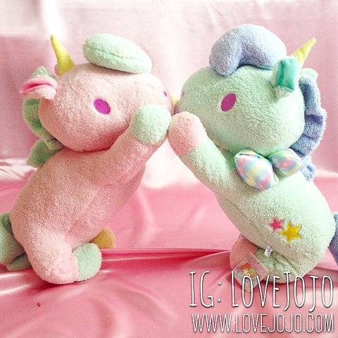 Sanrio Little Twin Stars Pastel Giant Unicorns Green or Pink