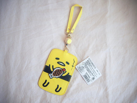 Gudetama Luggage Tag, Retractable Pass Case Yellow