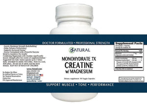 Image of Creatine with Magnesium Capsules Bottle