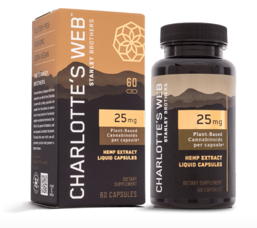 25MG Charlotte's Web OIL LIQUID CAPSULES