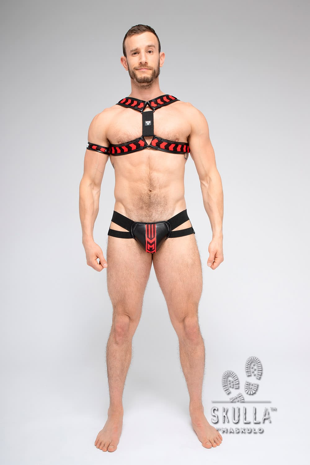 Skulla. Double sided X-style Bulldog Harness