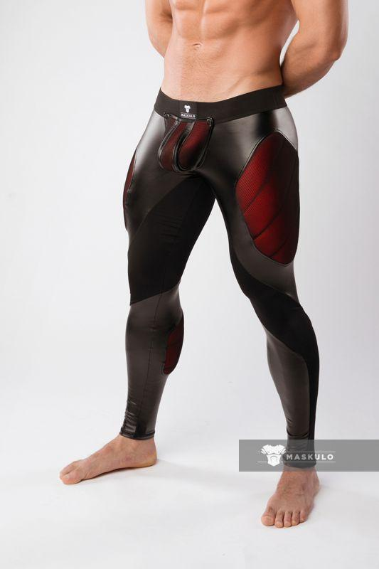 Armored. Color-Under. Men's Fetish Leggings. Zipped rear