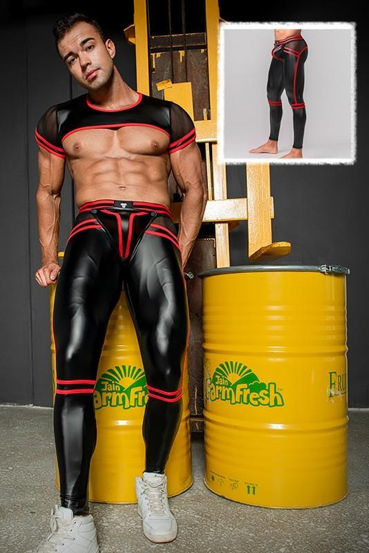 Youngero Generation Y. Men's Fetish Leggings. Codpiece. Open Rear